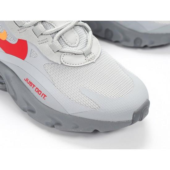 Nike Air Max 270 React Mens Women Sneaker White Gray Red Running Shoes CT2203-002