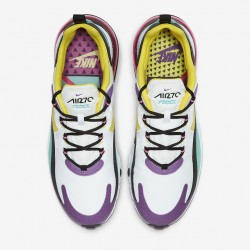 Nike Air Max 270 React Women Sneaker AT6174 101 Mens Black Yellow White Running Shoes AO4971 101