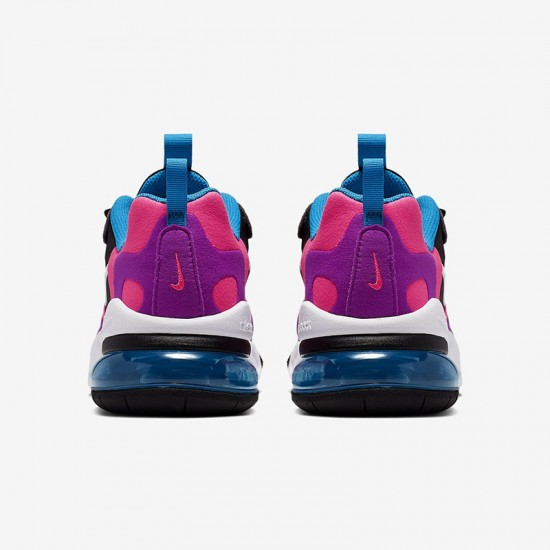 Nike Air Max 270 React Women Sneaker Black White Fuchsia Purple Running Shoes BQ0101 001