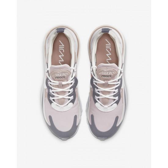 Nike Air Max 270 React Women Sneaker Gray White Khaki Running Shoes CI3899 500
