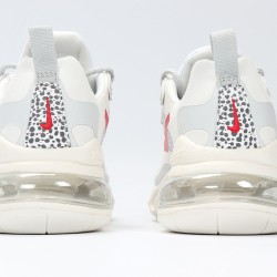 Nike Air Max 270 React Women Sneaker White Red Running Shoes CT2535-001