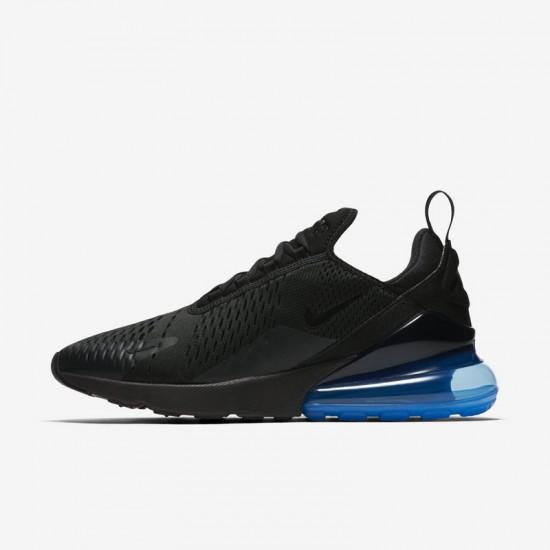 Nike Air Max 270 Mens Running Shoes Black Blue Sneakers AH8050 009