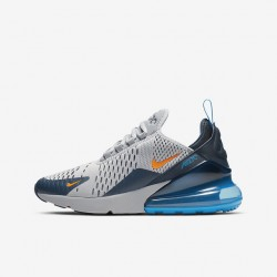 Nike Air Max 270 Mens Running Shoes Gray Orange Blue Sneakers 943345 015