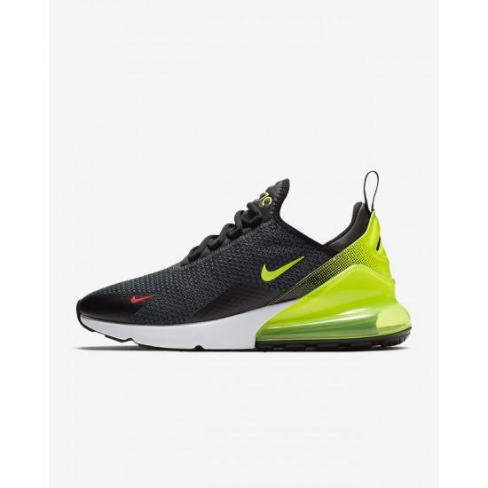 Nike Air Max 270 Mens Running Shoes Gray Yellow Sneakers AQ9164 005