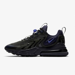 Nike Air Max 270 React Eng Black Blue Mens Running Shoes CD0113 001