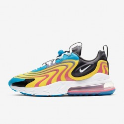 Nike Air Max 270 React Eng Yellow Blue Mens Running Shoes CD0113 400