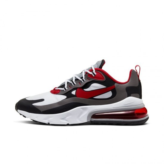 Nike Air Max 270 React Men Sneaker Black Red White Running Shoes CI3866 002