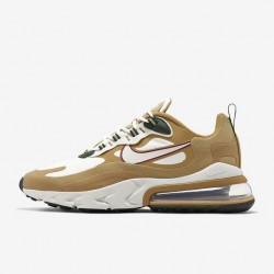 Nike Air Max 270 React Men Women Sneaker Brown White Running Shoes AO4971 700