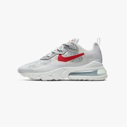 Nike Air Max 270 React Men Women Sneaker Gray Red Running Shoes CT2535 001