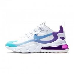 Nike Air Max 270 React Women Sneaker Blue White Purple Running Shoes AT6174 102