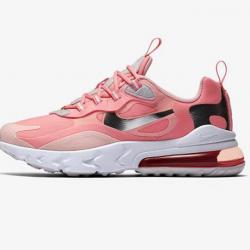 Nike Air Max 270 React Women Sneaker Pink Silver Running Shoes CQ5420 611