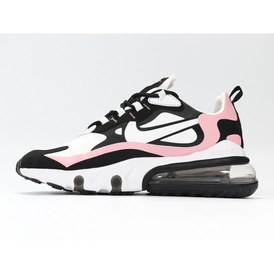 Nike Air Max 270 React Women Sneaker White Black Pink Running Shoes AT6174-005 Sneakers