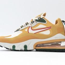 Nike Air Max 270 React Women Sneaker White Khaki Running Shoes AO4971-700