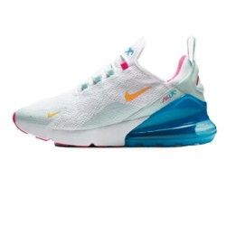 Nike Air Max 270 Womens Running Shoes Blue White Pink Sneakers CJ0568 100