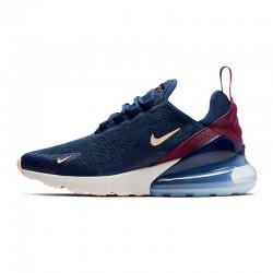 Nike Air Max 270 Womens Running Shoes Deep Blue White Sneakers AH6789 402