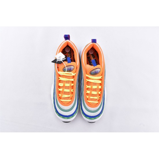 Air Max 97 London Summer Of Love Blue Orange Yellow Running Shoes CI1504-100 Unisex Sneakers