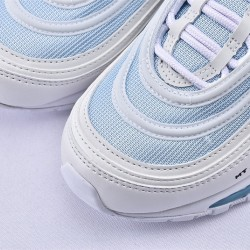 MSCHF x INRI Nike Air Max 97 Jesus Shoes Ice Blue Gray Running Shoes 921826-101 Unisex Sneakers