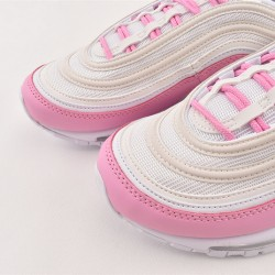 Nike Air Max 97 Ess Pink White Sneakers BV1982 100 Womens Running Shoes