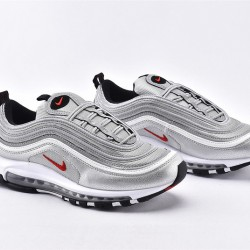 Nike Air Max 97 Silver Red Sneakers 884421-001 Unisex Running Shoes