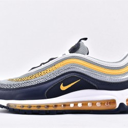 Nike Air Max 97 Gray Blue Yellow Sneakers BV0050-400 Unisex Running Shoes