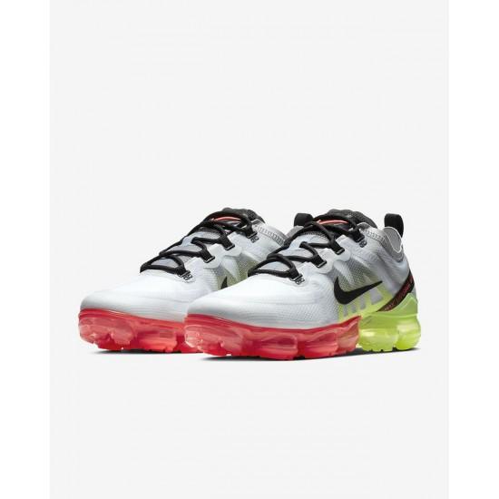 Mens Nike Air VaporMax 2019 Gray Yellow Pink Running Shoes AR6631 007