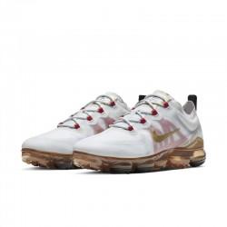 Mens Nike Air VaporMax 2019 White Gold Rose Running Shoes BQ7038 001