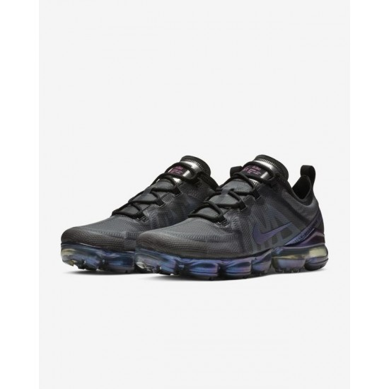 Nike Air VaporMax 2019 Black Blue Unisex Running Shoes AR6631 001