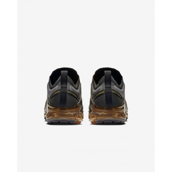 Nike Air VaporMax 2019 Gold Black Unisex Running Shoes AR6631 002