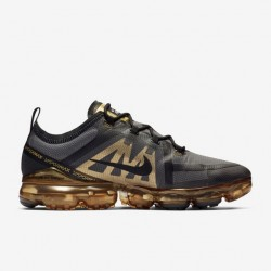 Nike Air VaporMax 2019 Gold Black Unisex Running Shoes AR6631 002