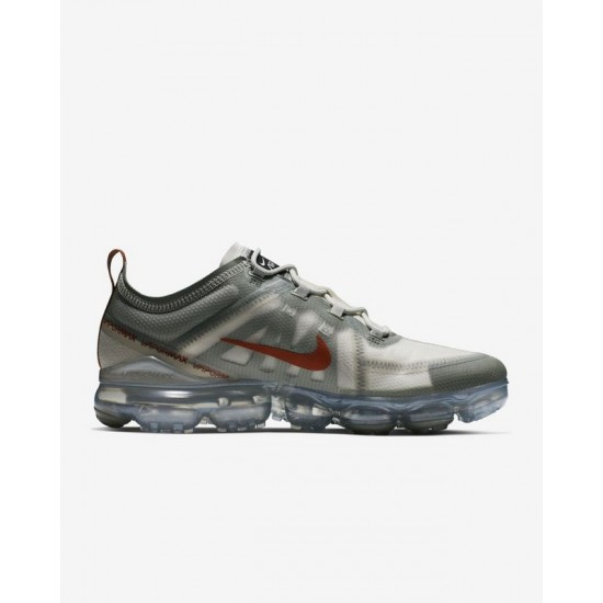 Nike Air VaporMax 2019 Gray Red Unisex Running Shoes AR6631 300