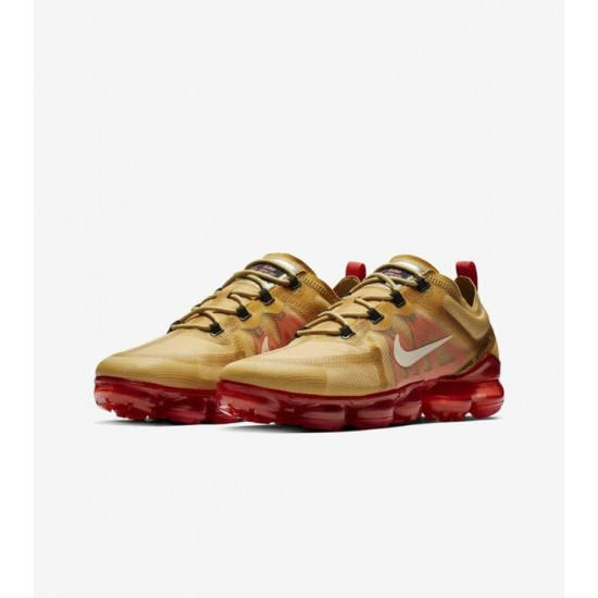 Nike Air VaporMax 2019 Gold White Win-Red AR6631 701
