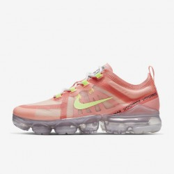 Womens Nike Air VaporMax 2019 Pink Yellow Running Shoes AR6632 602