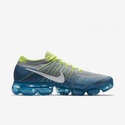 Mens Nike Air VaporMax Flyknit Yellow Smoke Running Shoes 849558 022