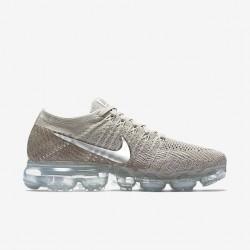 Nike Air VaporMax Flyknit Gray Womens Running Shoes 849557-202