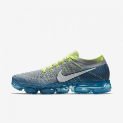 Mens Nike Air VaporMax Flyknit Yellow Smoke Running Shoes 849558 022