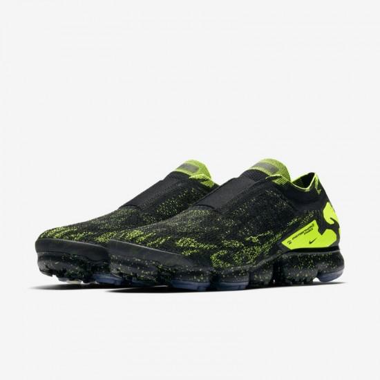 Acronym x Nike Air VaporMax Moc 2 Black Yellow Unisex Running Shoes AQ0996 007