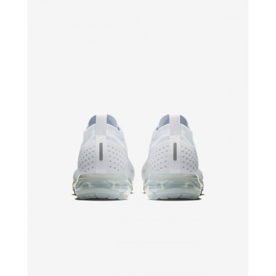 All White Nike Air VaporMax Flyknit 2 Unisex Running Shoes 942842-100