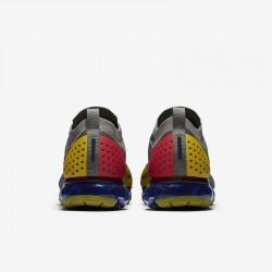 Mens Nike Air VaporMax FK MOC 2 Gray Yellow Running Shoes AH7006 004