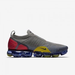 Mens Nike Air VaporMax FK MOC 2 Gray Yellow Running Shoes AH7006 004