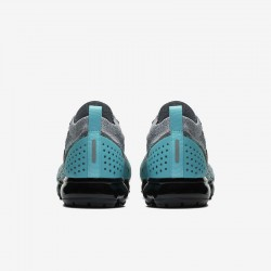 Mens Nike Air VaporMax Flyknit 2 Gray Blue Black Running Shoes 942842-104