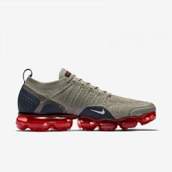 Mens Nike Air VaporMax Flyknit 2 Gray White Running Shoes 942842 010