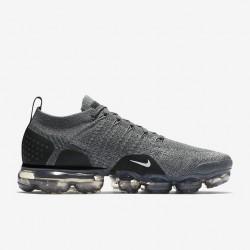 Mens Nike Air VaporMax Flyknit 2 Smoke Black Running Shoes 942842 002