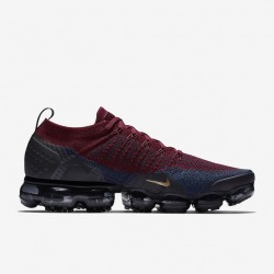 Mens Nike Air VaporMax Flyknit 2 Win-Red Black Gold Running Shoes 942842 601