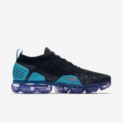 Nike Air VaporMax Flyknit 2 Unisex Black Pink Blue Running Shoes 942842-003