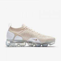 Womens Nike Air VaporMax Flyknit 2 Beige White Running Shoes 942843 201