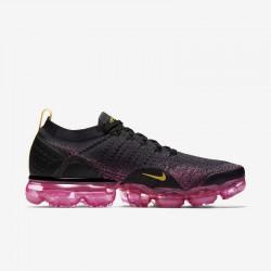 Womens Nike Air VaporMax Flyknit 2 Black Yellow Running Shoes 942843 008