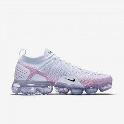 Womens Nike Air VaporMax Flyknit 2 White Pink Running Shoes 942843-102