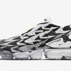 Acronym x Nike Air VaporMax Moc 2 Unisex Black White Green Running Shoes AQ0996 001