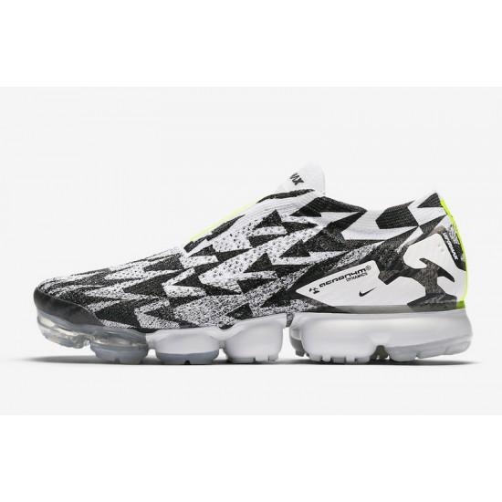 Acronym x Nike Air VaporMax Moc 2 Unisex Black White Green Running Shoes AQ0996 001