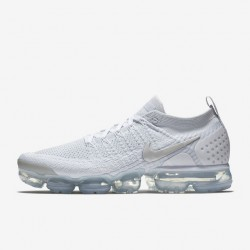 Mens Nike Air VaporMax Flyknit 2 White Gray Running Shoes 942842 105